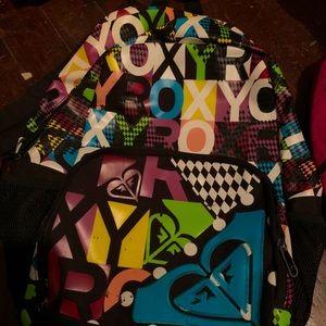 Used Multicolored Roxy Large Logo Backpack
